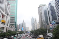 Traffic congestion, automobile, modern city, Shenzhen Royalty Free Stock Image
