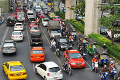Traffic Congestion in Bangkok Stock Images