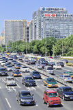 Traffic congestion on Financial Street, Beijing, China. BEIJING-AUG. 24. Traffic jam at 2th ring road. Beijing has been notorious for serious traffic congestion Stock Photography