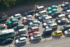 Traffic congestion on highway Royalty Free Stock Image