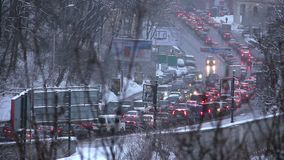 Traffic congestion. Traffic jam. Traffic congestion stock video footage