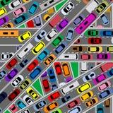 Traffic congestion on roads Stock Photos