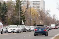 Traffic Congestion in Victoria Park Avenue Royalty Free Stock Photos