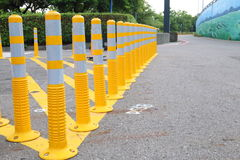 Traffic Control Bollards Stock Image