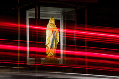 Traffic Control. Mary at the Gruftstrasse in Kleve (Cleves), Germany Stock Photography