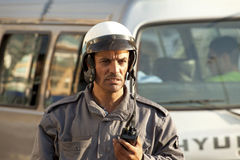 Traffic control police man, Beirut Stock Image