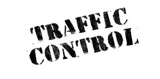 Traffic Control rubber stamp Stock Image