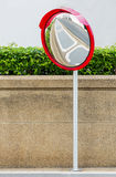 Traffic convex mirror Stock Photos