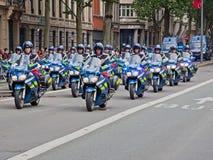 Traffic Cop Convoy Stock Photo