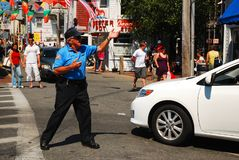 Traffic Cop, Provincetown Stock Image
