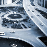 Traffic: crossing high ways royalty free stock images