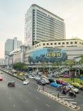 Traffic crossroads in Bangkok royalty free stock image