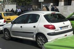 Traffic crowded,tehran Iran royalty free stock images