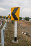 Traffic on the curve way. In Thailand Royalty Free Stock Photo