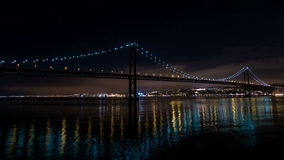 Traffic on the 25 de Abril Bridge in Lisbon Portugal Stock Photography