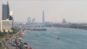 Traffic deira area 4k time lapse from dubai stock footage
