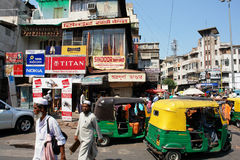 Traffic in Delhi. Daily Life on the Street in New Delhi, Capital of India Stock Images