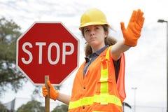 Traffic Directing Stop Stock Photos