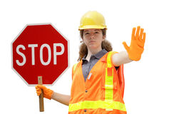 Traffic Directing Stop Isolated royalty free stock photography