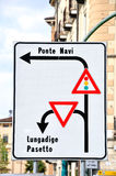 Traffic direction. Stock Images