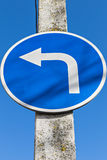 Traffic direction sign Stock Photos