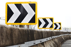 Traffic directional road signs pointing to right Royalty Free Stock Photography
