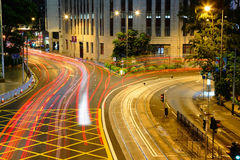 Traffic through downtown Royalty Free Stock Images