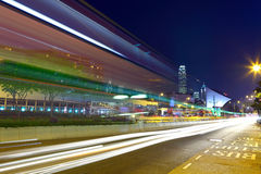 Traffic through downtown Royalty Free Stock Photography