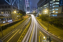 Traffic in downtown in hong kong Stock Images