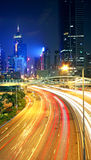 Traffic in downtown in hong kong Royalty Free Stock Images