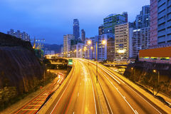 Traffic in downtown in Hong Kong Royalty Free Stock Photos