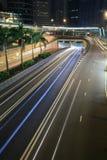Traffic through downtown Hongkong Stock Photography