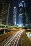 Traffic through downtown Hongkong Royalty Free Stock Photography