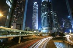 Traffic through downtown Hongkong Stock Image