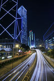Traffic through downtown Hongkong Stock Images