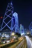 Traffic through downtown Hongkong Stock Photo