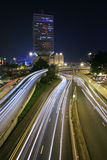 Traffic through downtown Hongkong Stock Photos