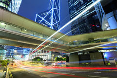 Traffic through downtown HongKong Stock Photography
