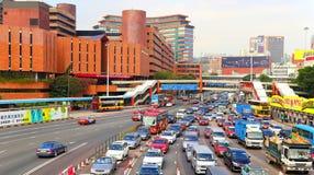 Traffic at downtown kowloon, hong kong Royalty Free Stock Photography