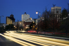 Traffic in downtown Memphis Royalty Free Stock Image
