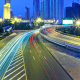 Traffic through downtown  t Royalty Free Stock Photography