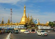 Traffic in downtown Yangon, Myanmar Royalty Free Stock Photos
