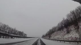 Traffic driving along motorway in Germany stock video