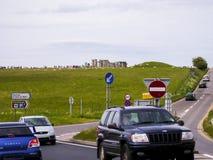 Traffic Driving towards Stonehenge Stock Photography
