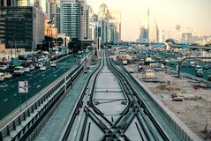Traffic in Dubai, UAE Stock Images