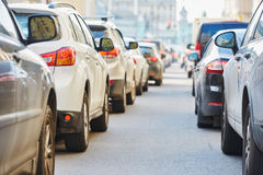 Free Traffic During The Rush Hour Stock Image - 55829381