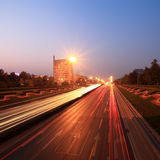 Traffic at dusk in rush hour Stock Photography