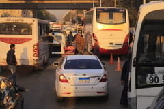 Traffic in Egypt Stock Photography