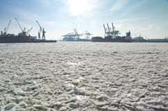 Traffic on ELbe Royalty Free Stock Photography