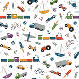 Traffic elements pattern Royalty Free Stock Photography